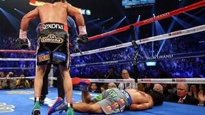 Manny Pacquiao is knocked out in the sixth round of his fight with Juan Manuel Marquez