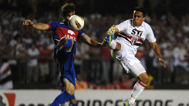 Sao Paulo were crowned champions of South America after Tigre failed to return for the second half
