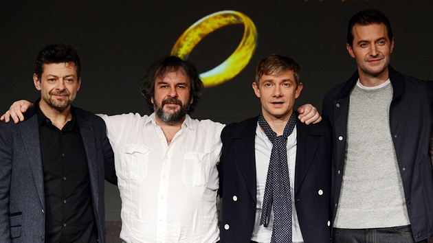 Andy Serkis, Peter Jackson, Martin Freeman and Richard Armitage