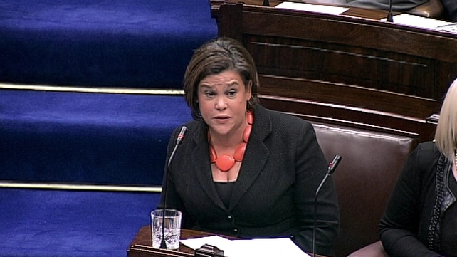 Mary Lou McDonald said the Government was not prepared to prioritise low and middle income workers or frontline workers