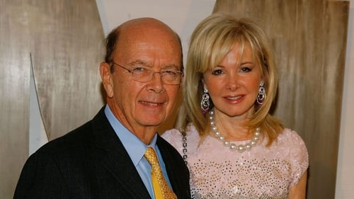 Wilbur Ross and his wife Hilary Geary