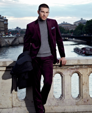 Velvet suit, available from NEXT