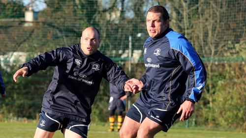 Richardt Strauss and Heinke van der Merwe have been chosen to start in Leinster's near sell-out game with Clermont Auvergne at the Aviva Stadium