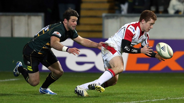 Ben Foden tackles Paddy Jackson last weekend