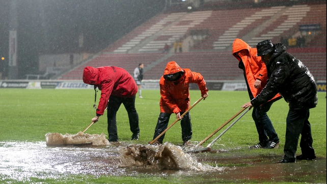 They managed to clear enough water from the pitch to get the go-ahead
