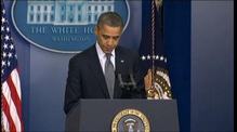US President Barack Obama addresses the media about the Connecticut shootings