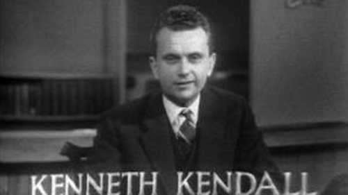 Kenneth Kendall was the first British TV newsreader