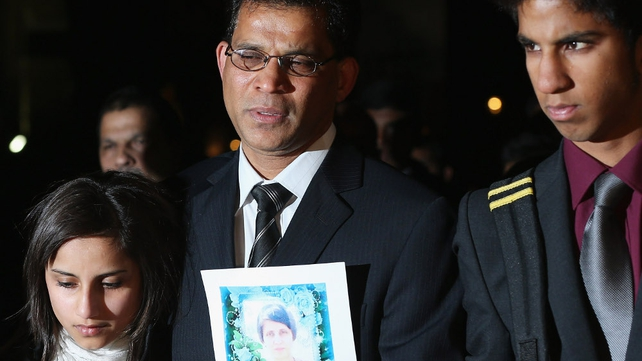 The family of Jacintha Saldanha attended a mass at Westminster Cathedral
