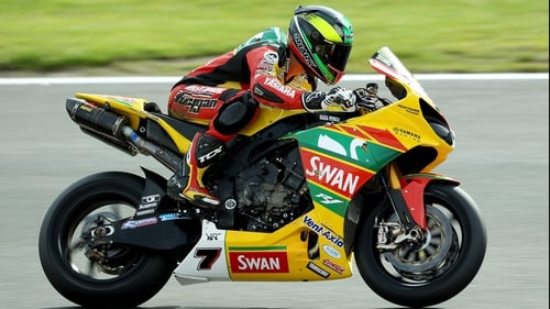 Michael Laverty riding for team Swan Yamaha during the MCE Insurance British Superbike Championship