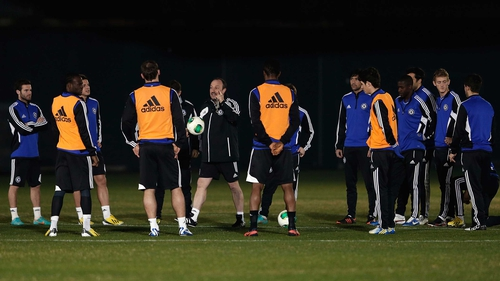 Rafael Benitez's Chelsea side will not return to England until Monday afternoon