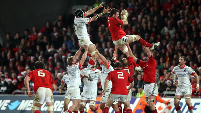 Munster reduced Saracens' lineout success rate from an average of 100% to 66% last Saturday