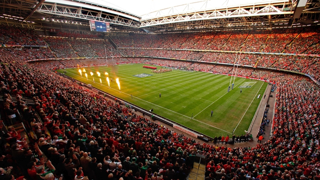Ireland will play two of their four 2015 Rugby World Cup Pool D matches at Millennium Stadium