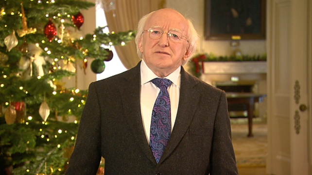 Michael D Higgins said there was much to look forward to as we prepare for the New Year