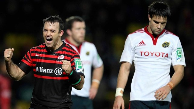 Munster were narrowly beaten by Saracens this afternoon