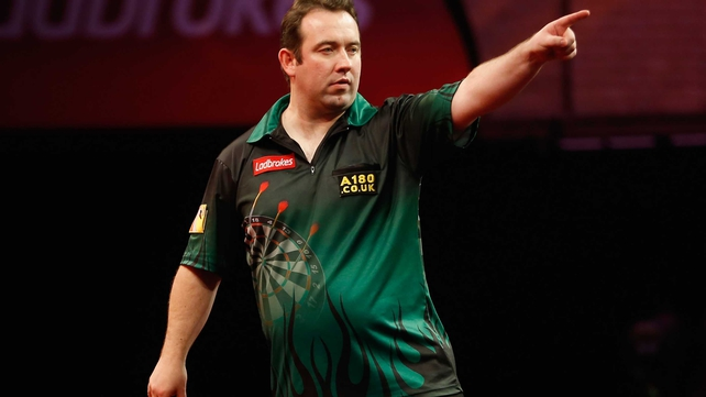 Raymond van Barneveld will now meet Brendan Dolan who beat Mark Jones 3-0