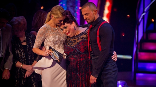 Lisa Riley and Robin Windsor - Lost out in the semi-final dance-off