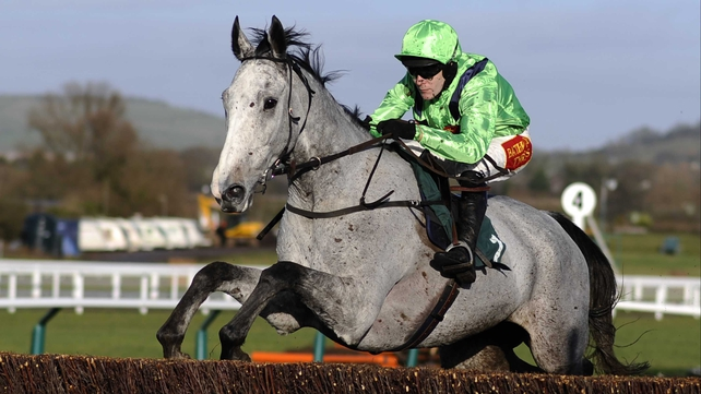 Tom Scudamore riding Our Father at Cheltenham racecourse