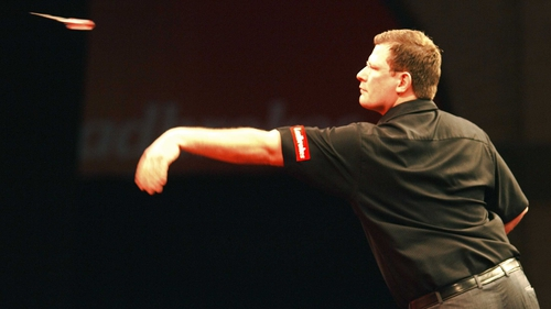 James Wade just prevailed in a tight match at a heaving Alexandra Palace