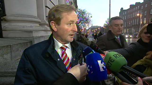 Enda Kenny has stressed there will be no free vote for Government TDs and Senators