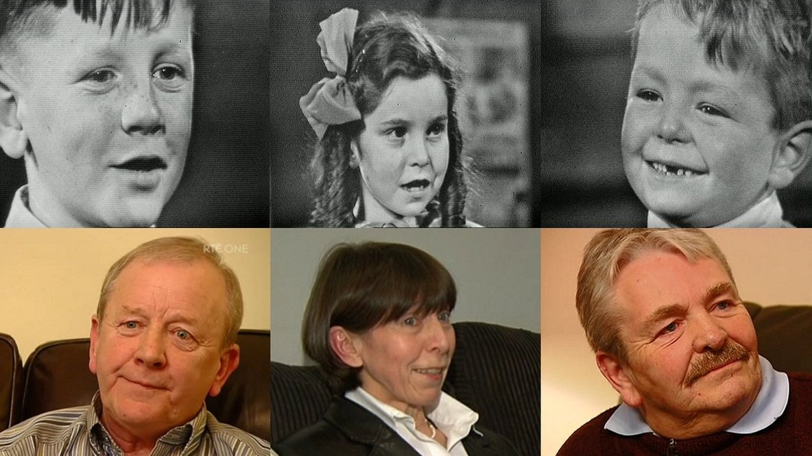 Stephen Butt, Maire Duggan and Noel O'Driscoll in 1962 and in 2012.