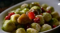 Brussels Sprouts with Chestnuts & Cranberries - This is a fantastic way of cooking the Brussels sprouts and it makes for a very interesting option.