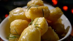 Kevin Dundon's garlic roast potatoes - just in time for Christmas.