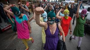 AUGUST: Supporters of Russian punk band 'Pussy Riot' protested over the jailing of the anti-Putin group