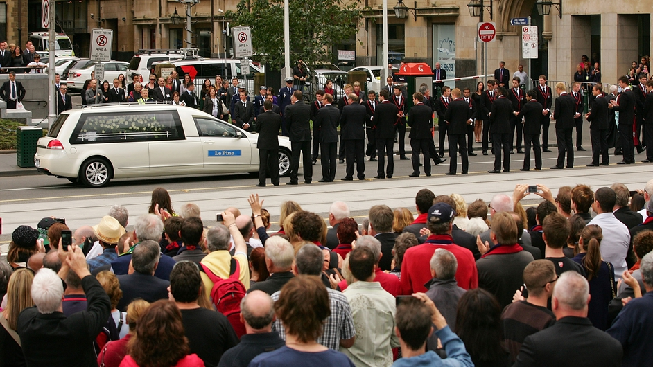 MARCH: Melbourne said farewell to Dublin-born Australian Rules legend Jim Stynes with a state funeral