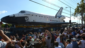 OCTOBER: The Space Shuttle Endeavour was transported through the streets of Los Angeles on its final journey to its permanent museum home
