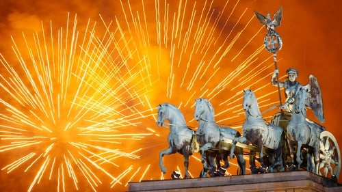 JANUARY: Berlin in Germany rang in the new year with fireworks over the Quadriga statue atop the Brandenburg Gate
