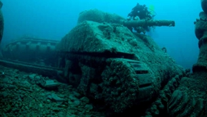 NOVEMBER: Startling images of ship wrecks, including an army tank, in Irish waters were published for the first time