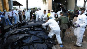 FEBRUARY: Over 350 inmates died after a fire swept through a prison in Honduras