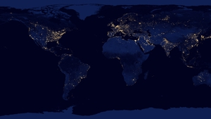 DECEMBER: NASA released this stunning 'black marble' view of the Earth at night