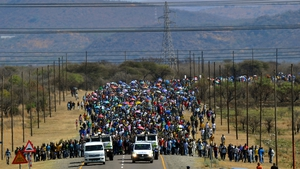 AUGUST: South Africa saw unrest and protests after police shot dead 34 striking workers in Marikana