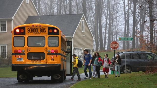 Children return to school in Newtown, Connecticut