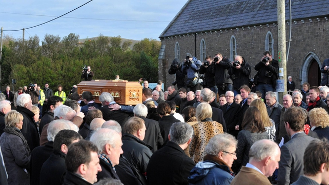 Hundreds gathered for the funeral of the Kerry footballing legend