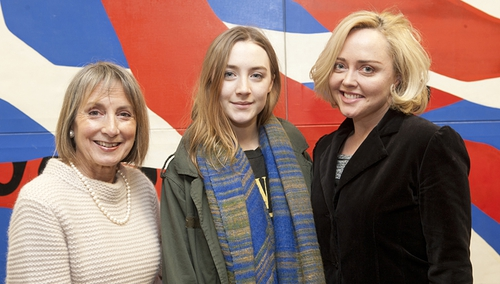 Susan Fitzgerald, Saoirse Ronan with After Life fellow actress Angeline Ball