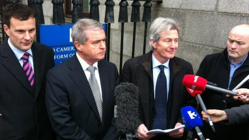 Frank Fahey (second from left) welcomed the apology from Associated Newspapers (Pic: Ray Kennedy)