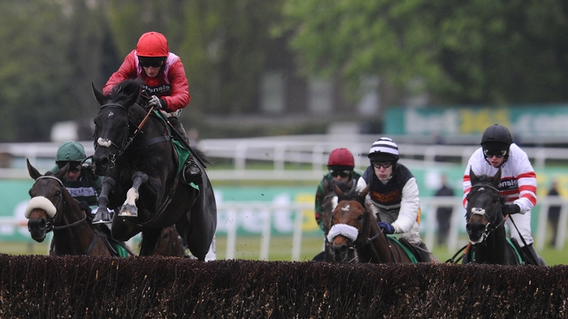 Sanctuaire and Daryl Jacob led the field for most of the way in the Tingle Creek