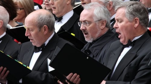 Paul Kenny (beard and glasses), among the basses of Our Lady's Choral Society