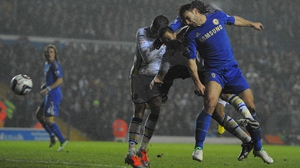Serbian defender Branislav Ivanovic made it 2-1 to Chelsea in the 64th minute