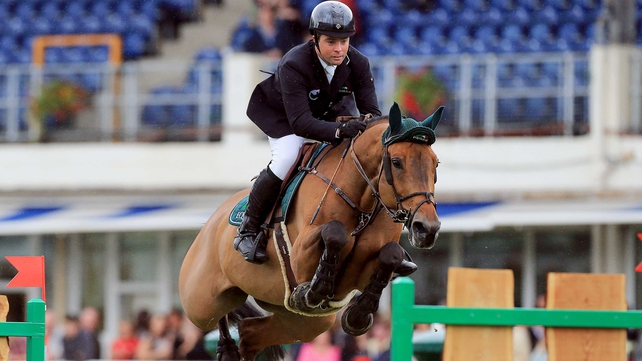 Cian O'Connor won the Speed Stakes on the opening day of the Dublin Horse Show