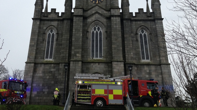 The blaze happened at St Patrick's Church in the centre of Wicklow town
