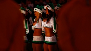 'He's making a list and checking it twice...' - Boston Celtics cheerleaders get into the festive spirit at the Garden