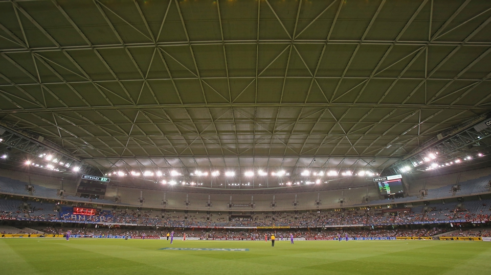 That's just not cricket - The roof is closed for the Big Bash League match between the Melbourne Renegades and the Hobart Hurricanes at Etihad Stadium in Melbourne