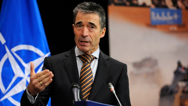 Anders Fogh Rasmussen said the missile launches were the act of a 'desperate regime'