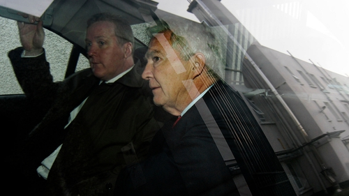 Seán FitzPatrick (R) photographed on his way into court