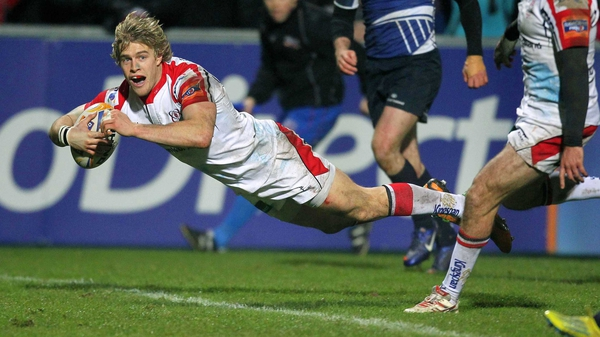 Andrew Trimble goes over for a well-worked try as Ulster enjoyed another league win at Ravenhill