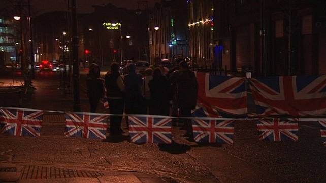 Loyalists have been protesting since councillors voted to restrict the flying of the union flag over Belfast City Hall