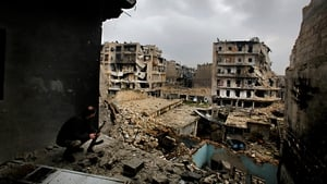 Aleppo has been destroyed during two years of fighting